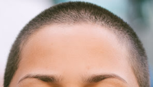 perfect female concave hairline