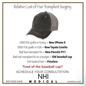 hair transplant relative cost